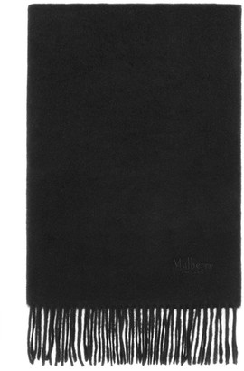 Mulberry Cashmere Scarf Black Cashmere Wool