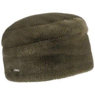 Seeberger Fake Fur Winter Hat Womens Beanie (One Size - Khaki)
