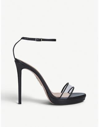 Aquazzura Minimalist 115 leather sandals