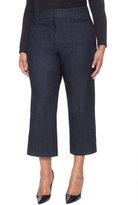 ELOQUII Plus Size Cropped Denim Culotte Pant