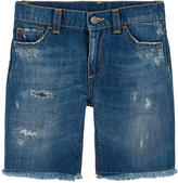 Dolce & Gabbana Jean bermudas with patches