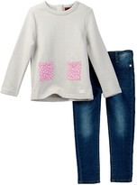 7 For All Mankind Top & Jean Set (Toddler Girls)