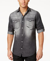 INC International Concepts Men's Cassidy Faded Denim Shirt, Only at Macy's