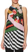 Mary Katrantzou Andy Pleated Floral Print Blouse