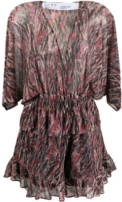 IRO V-neck ruffled hem playsuit