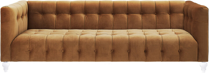 Thumbnail for your product : Tov Bea Cognac Velvet Sofa