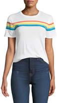 Elizabeth and James Lakota Crewneck Short-Sleeve Rainbow-Print T-Shirt