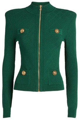 Balmain Diamond-Knit Jacket