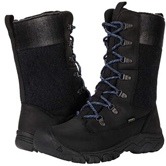 Keen Greta Tall Waterproof Boot (Black/Black) Women's Shoes