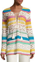 Figue Carita Striped Macrame Tunic, Multi