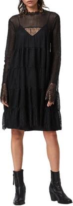 AllSaints Briella Lace Long Sleeve Dress