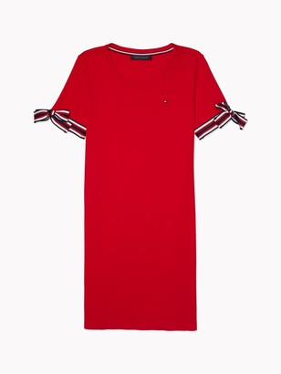 Tommy Hilfiger Essential Tie-Sleeve T-Shirt Dress