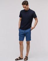 Indigo Cotton Double Face Shorts