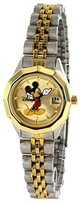 Disney Mickey Mouse Women's MCK342 Classic 'Moving Hands' Two-Tone Bracelet Watch