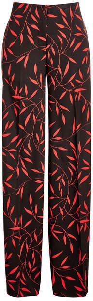 Diane von Furstenberg Printed Pants with Silk
