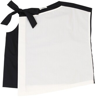 Cotton Poplin Top W/bow