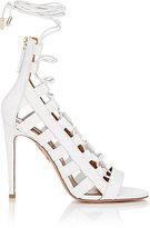 Aquazzura Women's Amazon Lace-Up Sandals-WHITE