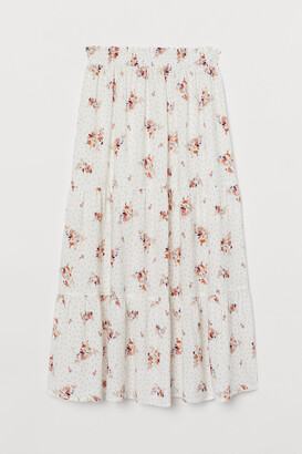 H&M Patterned Maxi Skirt
