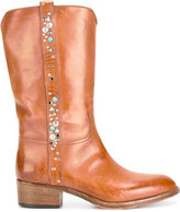 Sartore studded mid-calf boots - women - Calf Leather/Leather - 37
