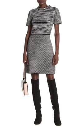 Tory Burch Embellished Tweed Dress