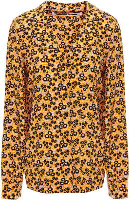 McQ Floral-print Silk Crepe De Chine Shirt