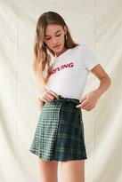 Urban Renewal Remade Flannel Wrap Mini Skirt