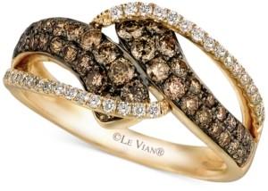 LeVian Le Vian Chocolatier Diamond Statement Ring (7/8 ct. t.w.) in 14k Gold