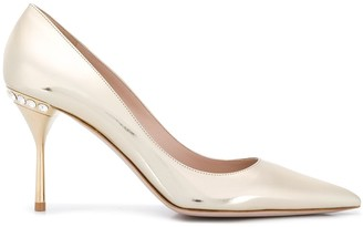 Miu Miu rhinestone stiletto heel pumps