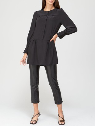 Very Pintuck Tiered Tunic - Black