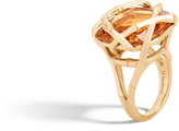 John Hardy Women's Bamboo Ring in 18K Gold with 19MM Citrine