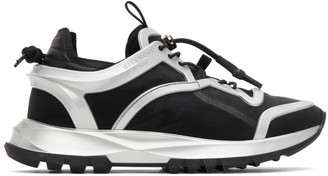 Givenchy Black and Silver Spectre Cage Runner Sneakers