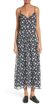 Vince Women's Calico Floral Drop Waist Silk Slipdress
