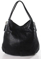 Givenchy Black Perforated Leather Zipper Hobo Handbag