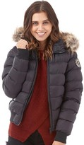 Brave Soul Womens Northwich Padded Bomber Jacket Black