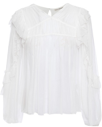 Ulla Johnson Isolde Ruffled Silk-crepon Blouse