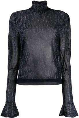 Chloé metallic sheer blouse