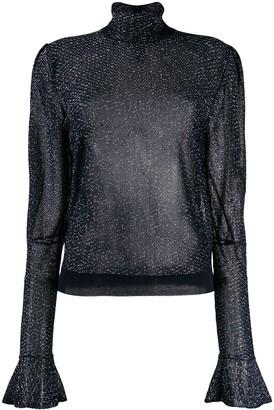 Chloé Metallic Sheer Blouse