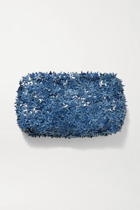 Nannacay Ambra Embellished Tulle Clutch - Light blue
