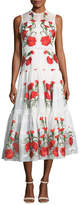 Alexis Leomie Sleeveless Floral-Embroidered Dress