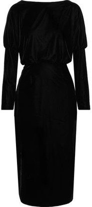 Rachel Zoe Emmaline Open-back Stretch-velvet Dress