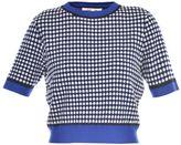 Diane von Furstenberg Squared Pattern Crop Top