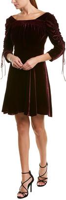 The Kooples Bliss Velvet Silk-Blend Mini Dress
