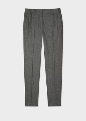 Paul Smith Women's Classic-Fit Grey Houndstooth Flannel Trousers