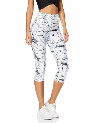 Aurique Amazon Brand Women's High Waisted Printed Cropped Sports Leggings