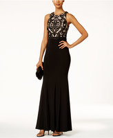 Xscape Evenings Damask Column Gown