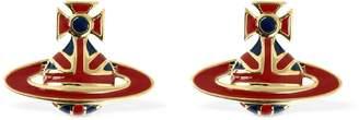 Vivienne Westwood Union Jack Enamel Earrings