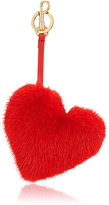 Anya Hindmarch Women's Heart Tasseled Mink Fur & Leather Key Ring