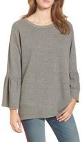 Current/Elliott Women's The Ruffle Sleeve Sweatshirt