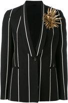 Brunello Cucinelli flower applique jacket - women - Silk/Cotton/Leather/Cupro - 40