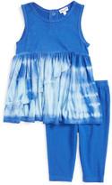 Splendid Tie Dye Dress & Legging Set (Baby Girls)
